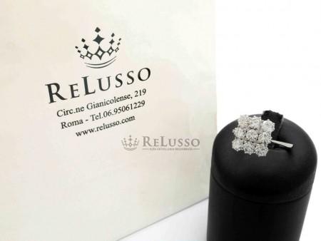 Anello con 9 diamanti per 2,50ct in oro bianco 18kt foto1