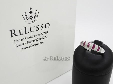 Anello Bliss modello Cabaret con rubini e diamanti in oro bianco foto5