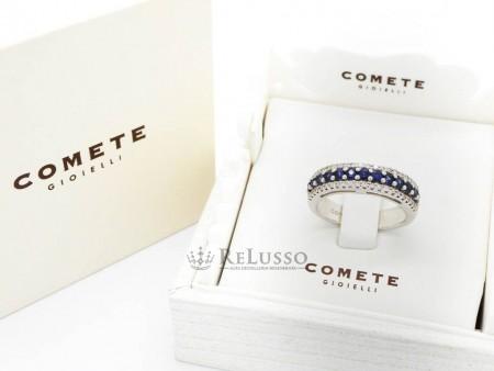 Anello Comete con zaffiri e diamanti in oro bianco 18kt foto1