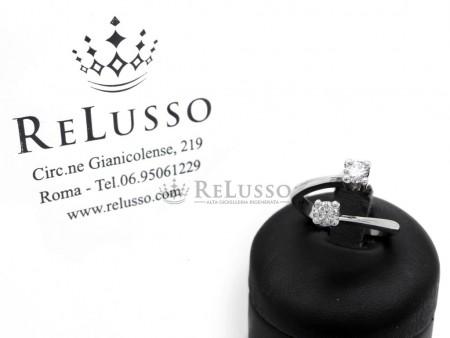 Anello Contrarié in oro bianco con 2 diamanti per 0,66ct G Color foto1
