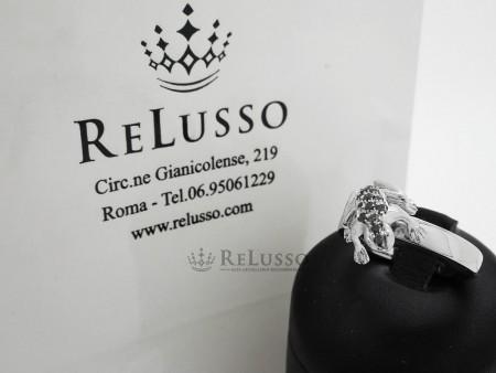 Anello Dada Arrigoni Kissing frog in oro bianco e diamanti neri foto8