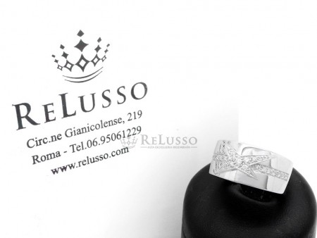 Anello Mauboussin Étoile Divine in oro bianco e diamanti foto1