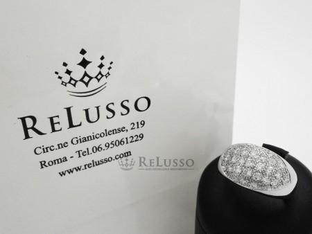 Anello con pavé di diamanti per 1,50ct G-H color in oro bianco foto5