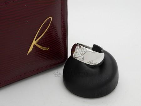 Anello ReCarlo collezione Giopaoli in oro bianco e diamanti fascia larga foto1