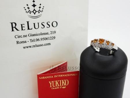 Anello Yukiko con diamanti e quazo citrino in oro bianco foto6