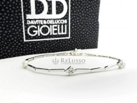 Bracciale Davite & Delucchi in oro bianco e diamanti per 0,39ct foto1