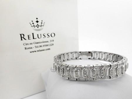 Bracciale in oro bianco 14kt con pavé di diamanti per 2,00ct foto1