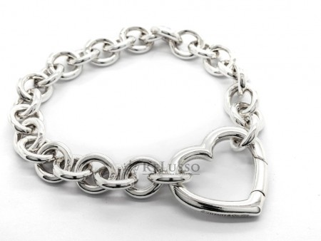 Bracciale Tiffany & Co. con chiusura Open heart in argento sterling foto2