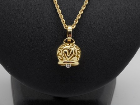 Ciondolo Chantecler collezione Campanelle in oro giallo 18kt e diamante foto1