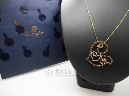 Ciondolo Chantecler collezione Diamour in oro rosa e diamanti foto1