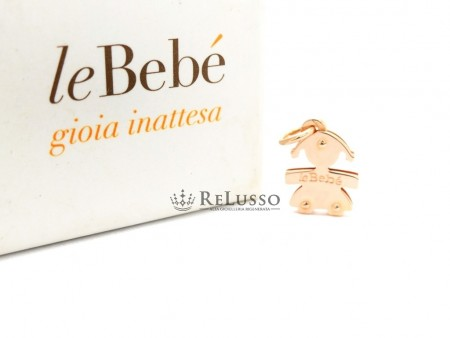 Ciondolo LeBebé bimba mini in oro rosa 18kt foto1