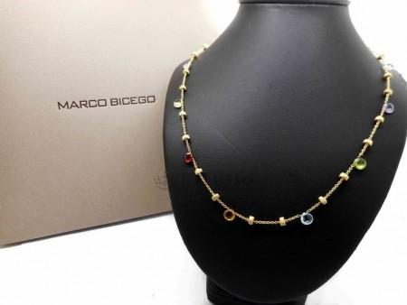 Collana Marco Bicego collezione Paradise in oro giallo e tormaline multicolore foto1