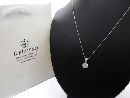 Collana con pendente Magic con 0,30ct di diamanti in oro bianco foto1