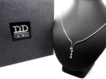 Collier Davite & Delucchi in oro bianco e diamanti per 0,52ct foto1