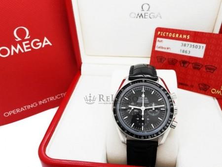 Omega Speedmaster Moonwatch ref. 3873.50.31 in acciaio foto1