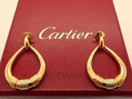 Orecchini Cartier pendenti in oro giallo 18kt FOTO1