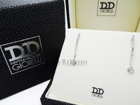 Orecchini pendenti Davite & Delucchi in oro bianco e diamanti per 0,26ct foto1