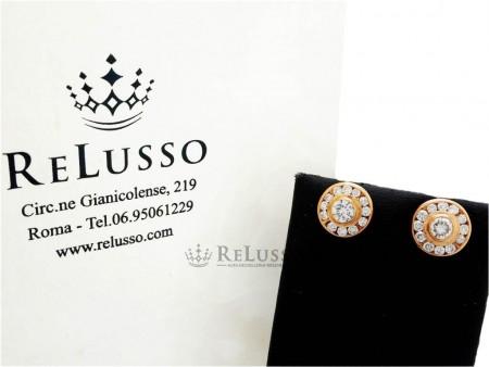 Orecchini tondi in oro rosa e diamanti per 1,10ct foto1