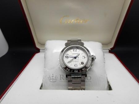 Orologio Cartier Pasha GMT ref.2377 in acciaio foto1