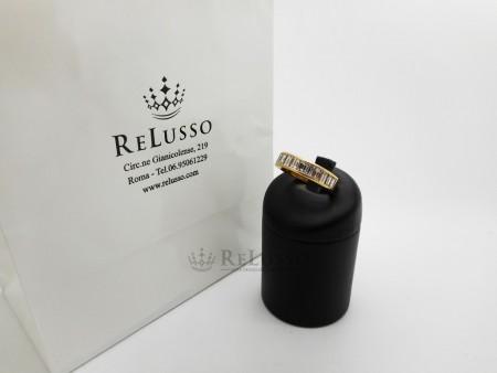 Riviera in oro giallo e diamanti taglio baguette per 3,40ct foto1