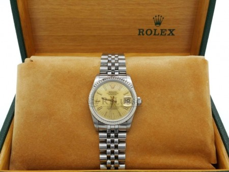 Rolex Datejust Lady ref. 68274 in acciaio con ghiera oro bianco foto1