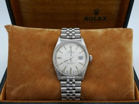 Rolex Datejust ref. 16014 in acciaio con ghiera in oro bianco foto7
