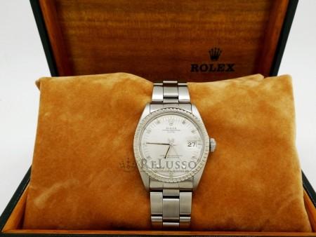 Rolex Oyster Perpetual Date ref. 1505 in acciaio e ghiera in oro foto7