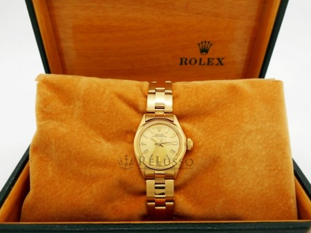 Rolex Oyster Perpetual Lady Gold Ref. 6618 foto6