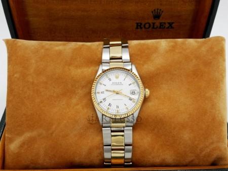 Rolex Oysterdate Precision ref. 6466 acciaio e oro 31mm foto5