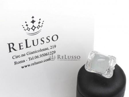 Anello Silvia Kelly con Acquamarina Milk e diamanti in oro bianco foto1