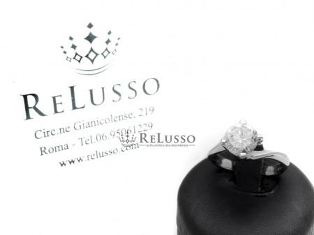 Solitario montatura Valentino con diamante da 2,068ct in oro bianco con certificato foto1