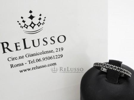 Veretta in oro bianco e diamanti neri per 0,60ctfoto5
