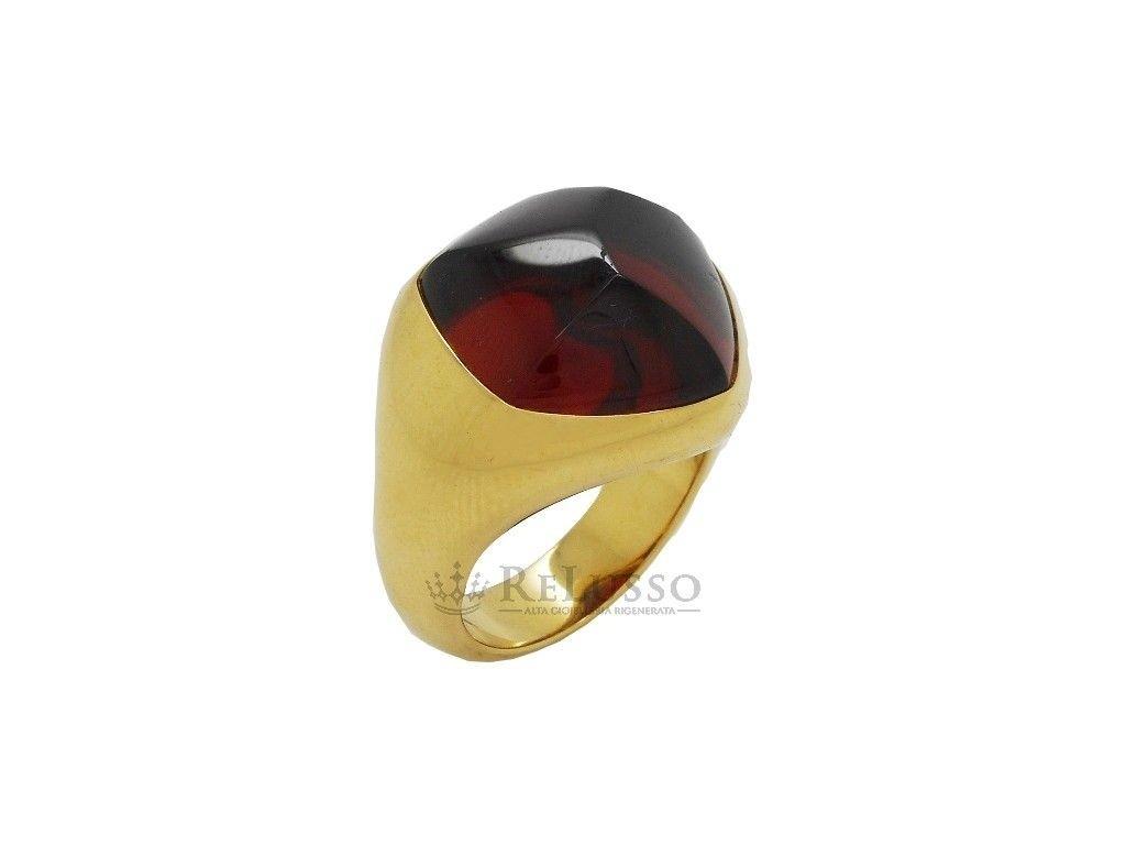a basso prezzo fd5e1 8e814 Anello Pomellato in oro giallo 18kt con granato sfaccettato