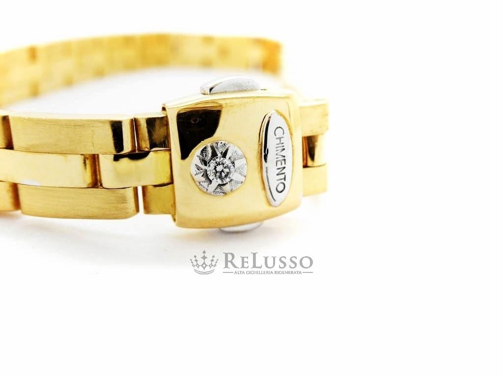 Diamantino Satinato Bracciale In Da Oro Uomo Con Chimento