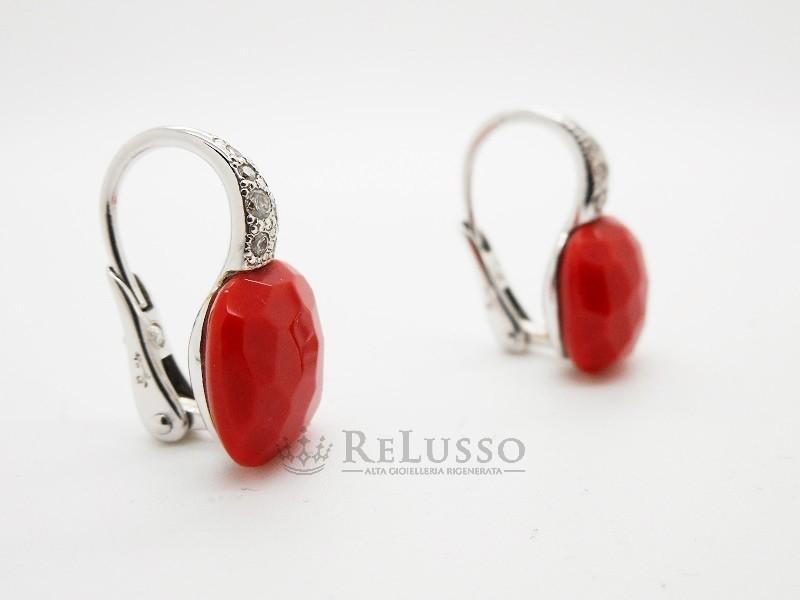 aa0b9480cd8799 ... Orecchini Pomellato Capri in oro bianco, diamanti e corallo rosso foto10